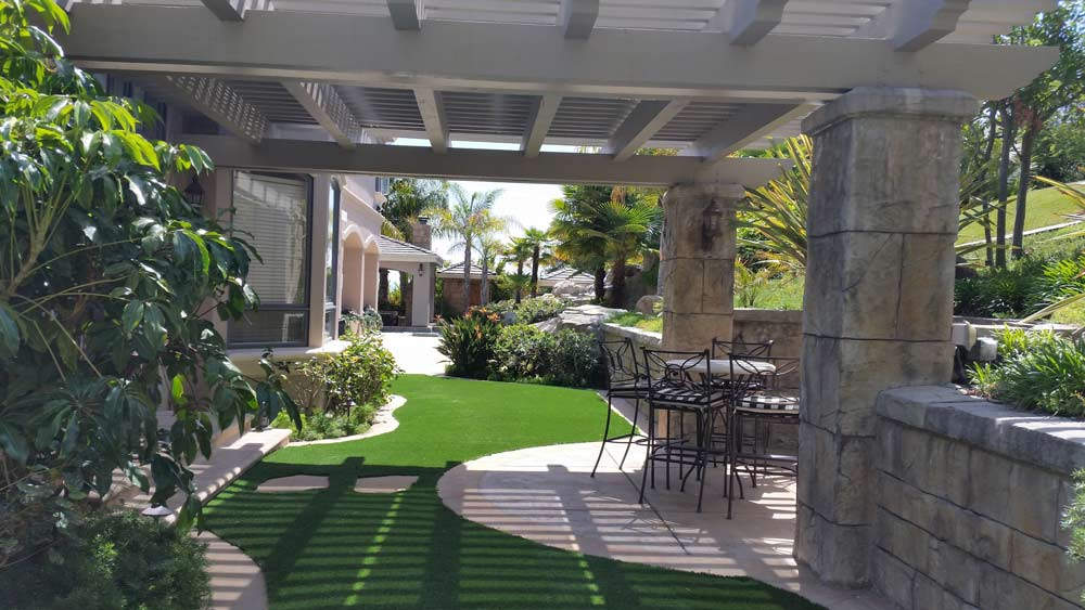 Arbor and Outdoor Dining Area